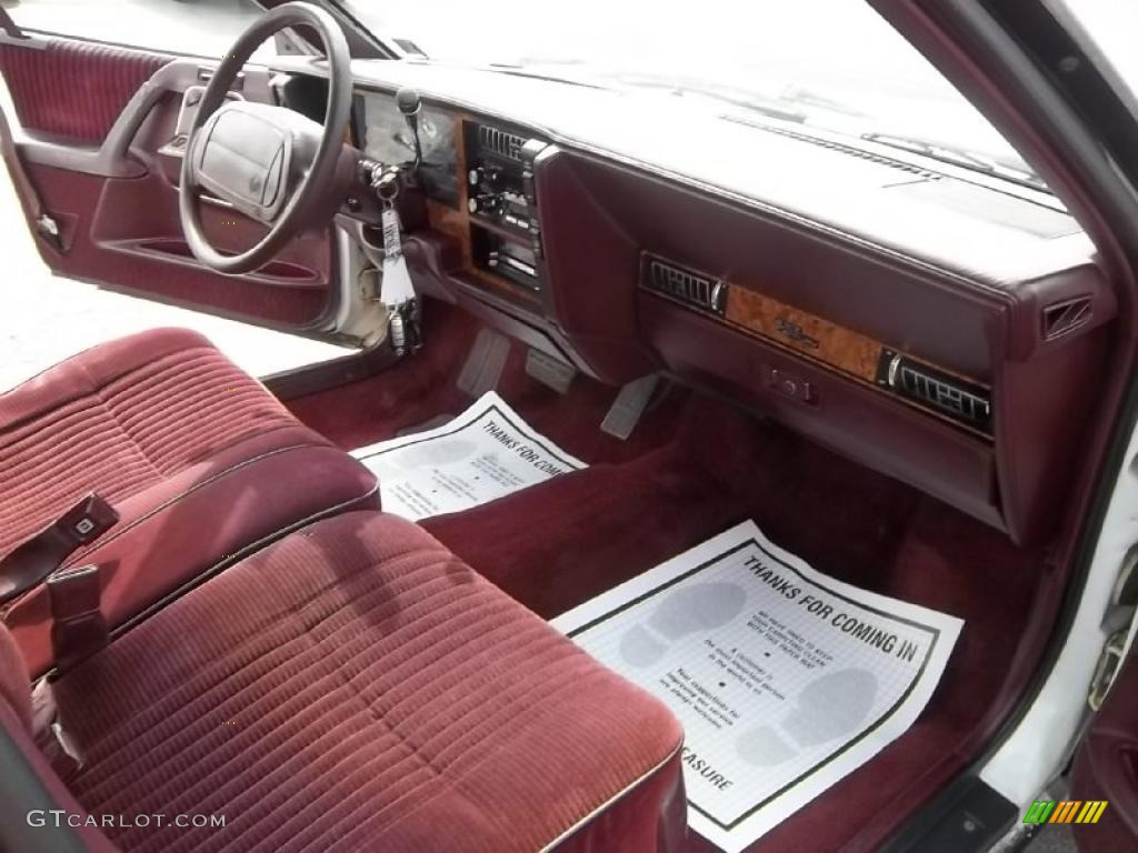 1994 Buick Century Special Sedan Red Dashboard Photo