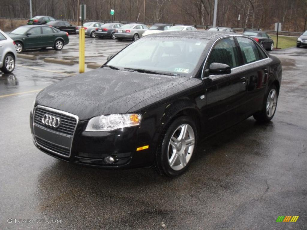 brilliant black 2007 audi a4 2.0t quattro sedan exterior photo