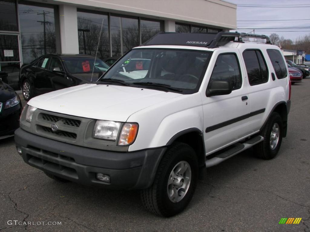 cloud white 2000 nissan xterra se v6 4x4 exterior photo. Black Bedroom Furniture Sets. Home Design Ideas