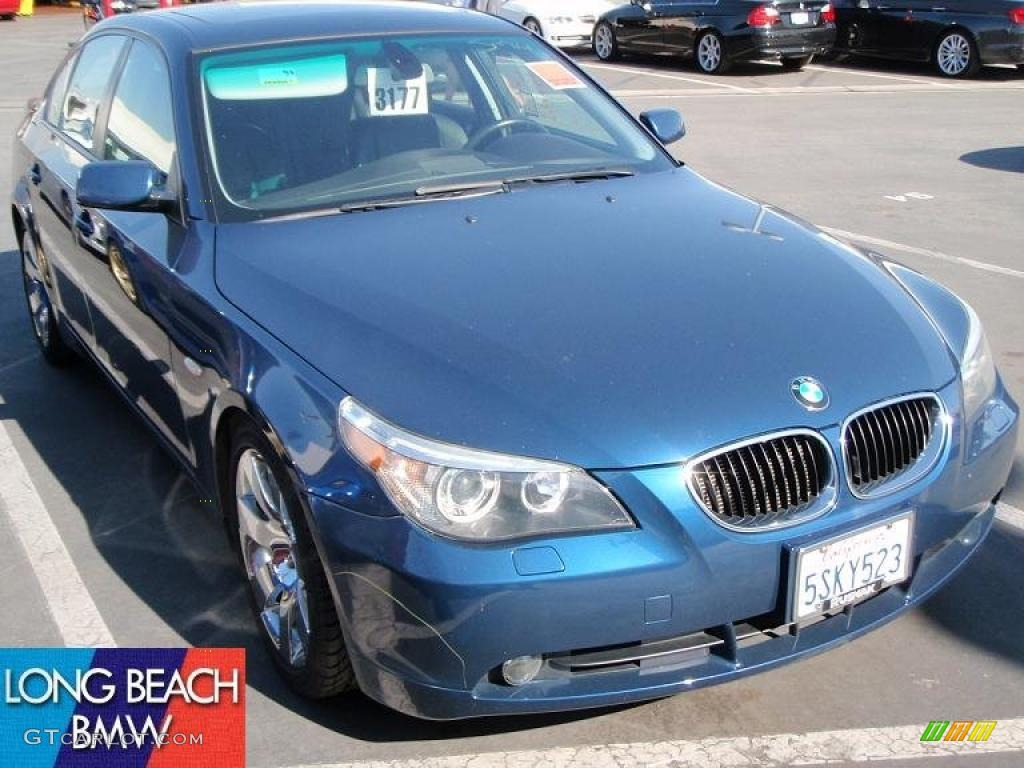 Mystic blue metallic bmw 5 series