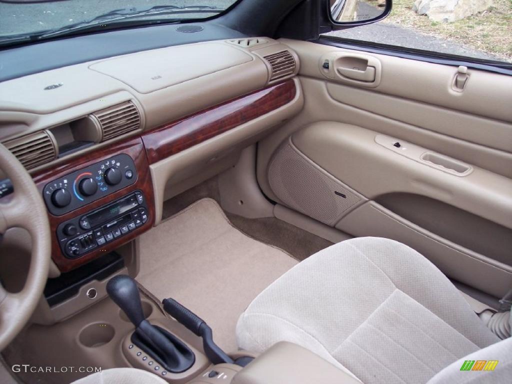 Sandstone Interior 2001 Chrysler Sebring Lx Convertible