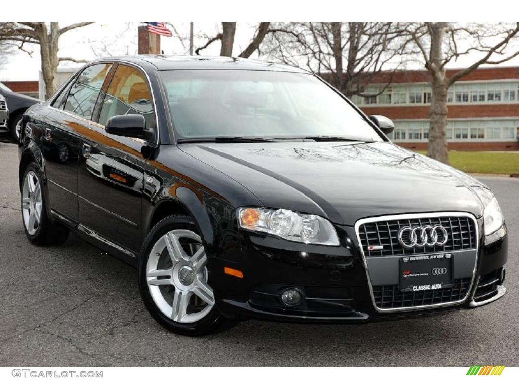 Brilliant Black 2008 Audi A4 2 0t Quattro S Line Sedan