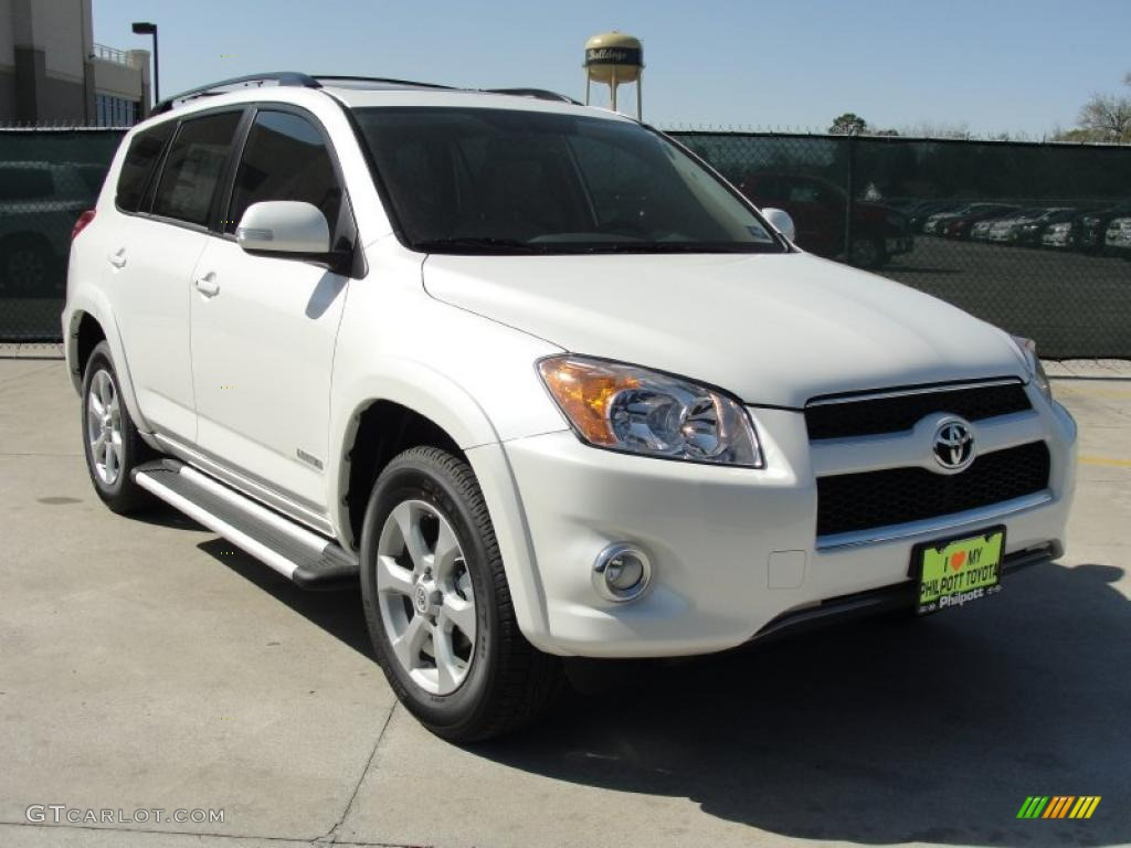 2011 blizzard white pearl toyota rav4 limited 46500160 car color galleries. Black Bedroom Furniture Sets. Home Design Ideas