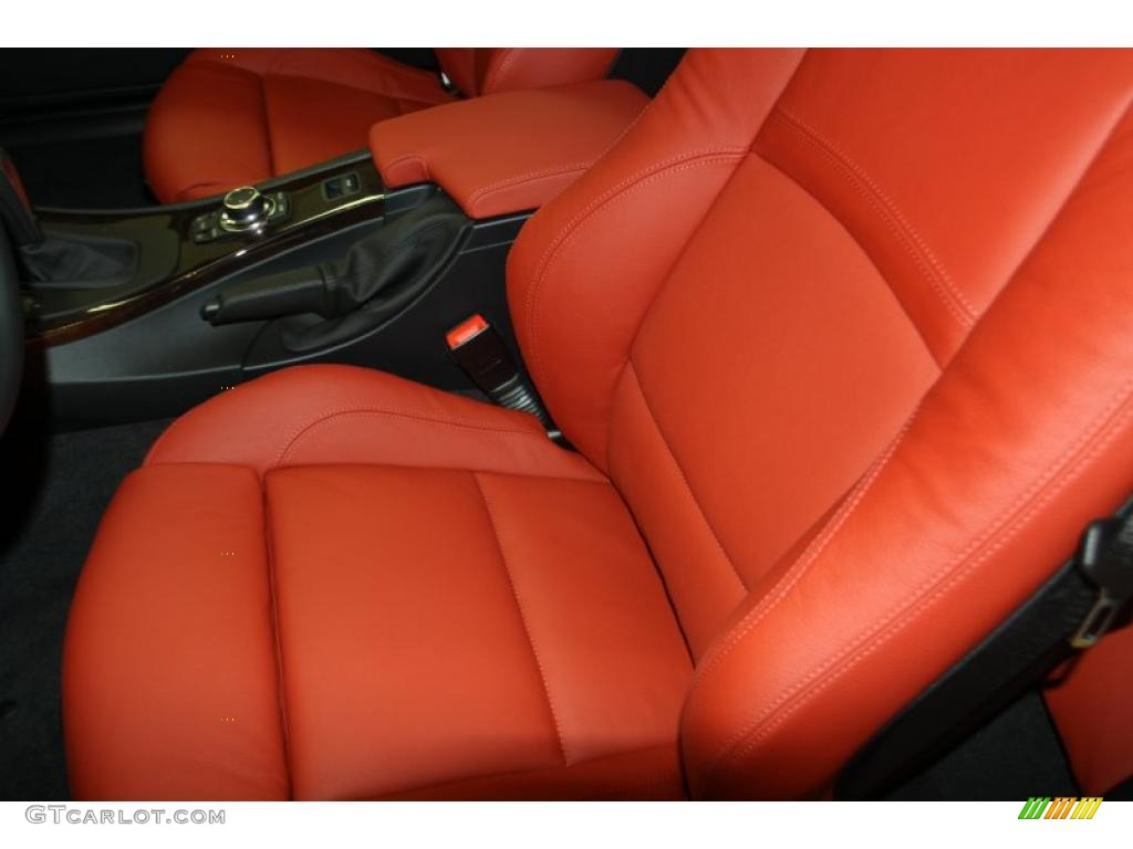 Coral Red Black Dakota Leather Interior 2011 Bmw 3 Series 335i Convertible Photo 46518360
