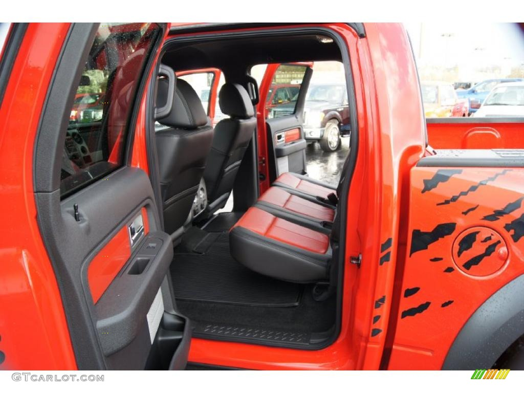 raptor blackorange interior 2011 ford f150 svt raptor supercrew 4x4 photo 46522125