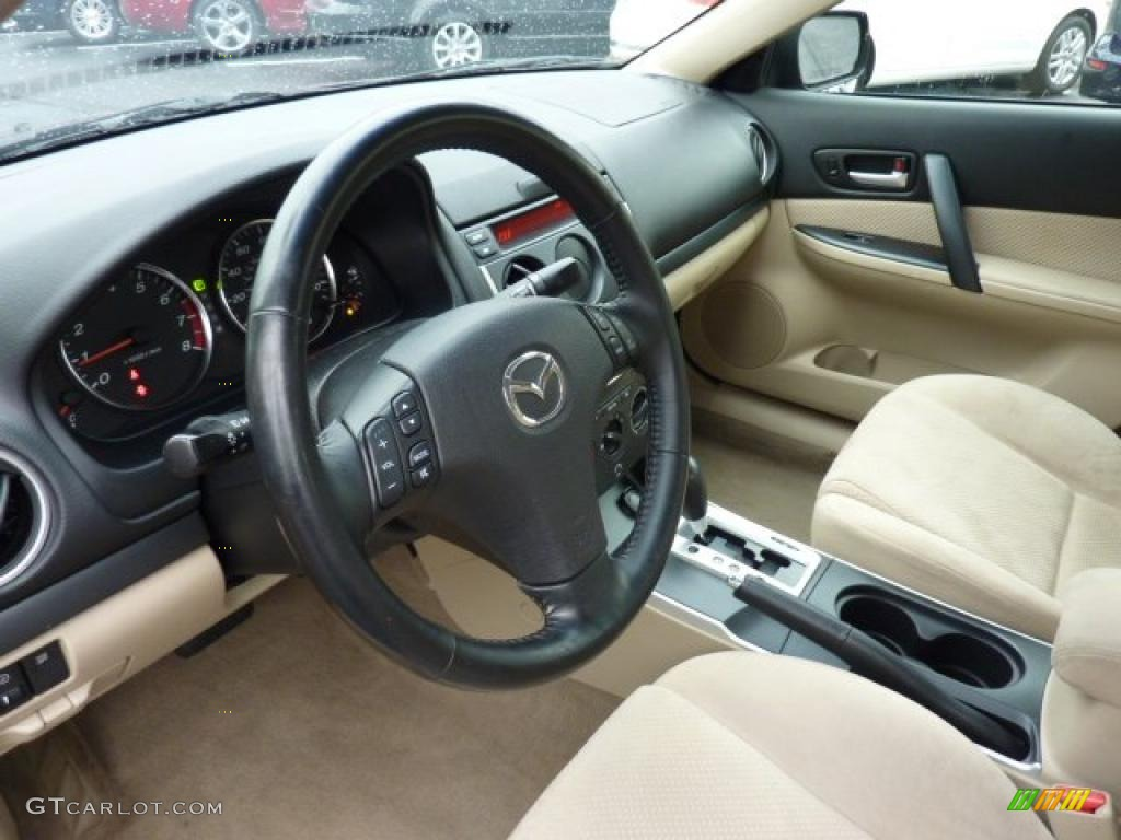 Beige Interior 2006 Mazda Mazda6 S Sedan Photo 46528272 Gtcarlot Com