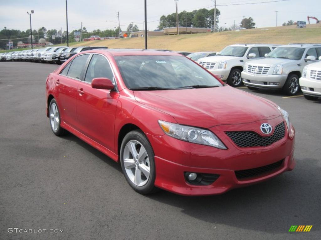 barcelona red metallic 2011 toyota camry se exterior photo 46543941. Black Bedroom Furniture Sets. Home Design Ideas