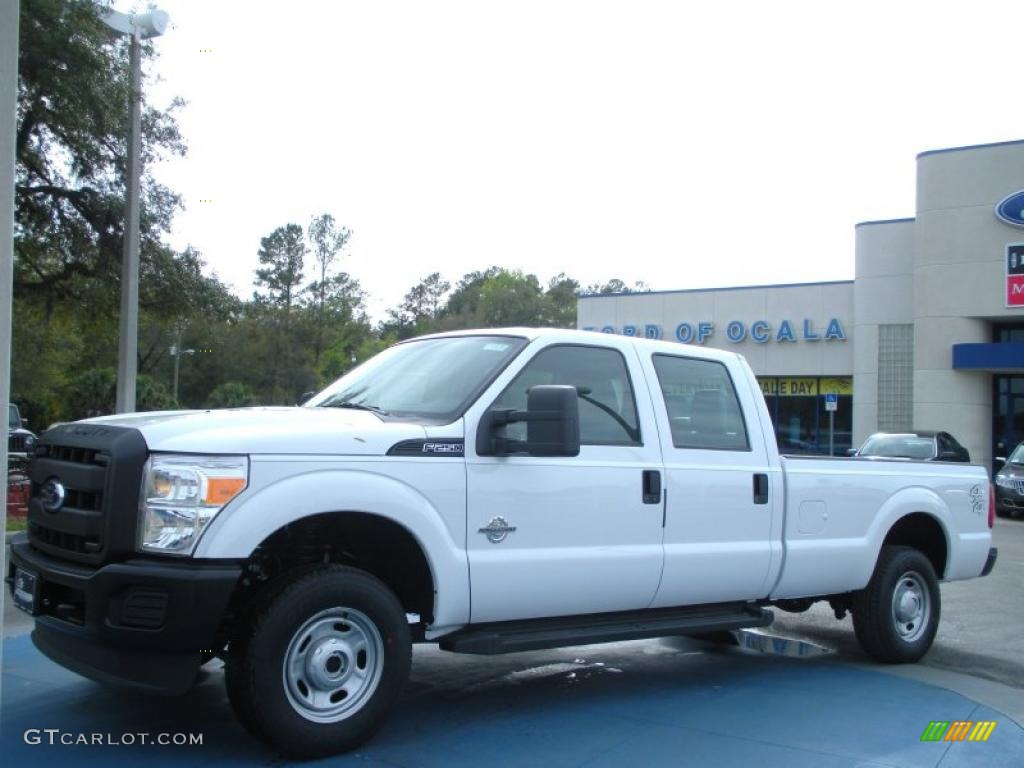 2014 Ford F 250 Crew Cab >> 2011 Oxford White Ford F250 Super Duty XL Crew Cab 4x4 #46545588 | GTCarLot.com - Car Color ...