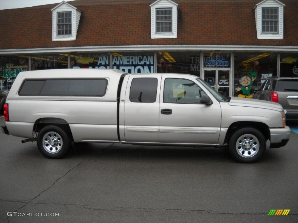 silver birch metallic 2006 chevrolet silverado 1500 lt extended cab exterior photo 46562253. Black Bedroom Furniture Sets. Home Design Ideas