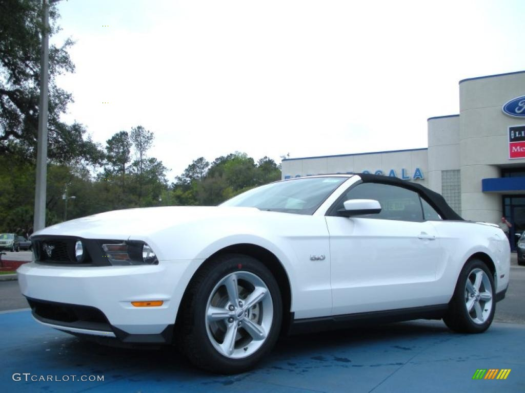 2012 performance white ford mustang gt premium convertible. Black Bedroom Furniture Sets. Home Design Ideas