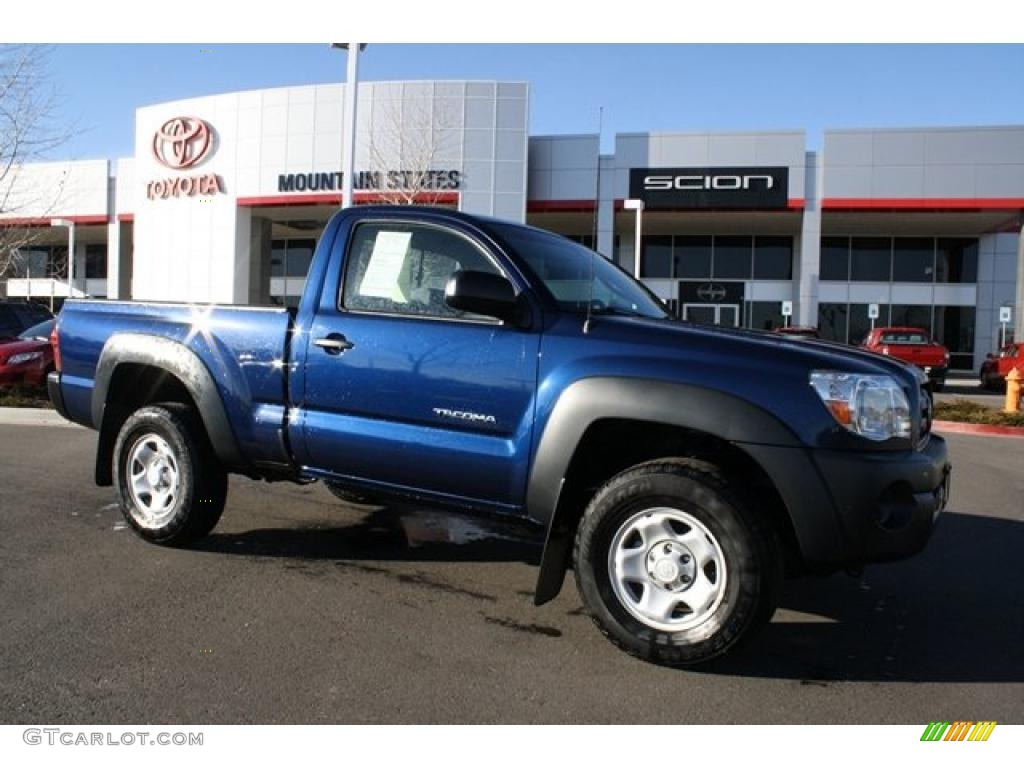 2008 indigo ink pearl toyota tacoma regular cab 4x4 46545402 car color galleries. Black Bedroom Furniture Sets. Home Design Ideas