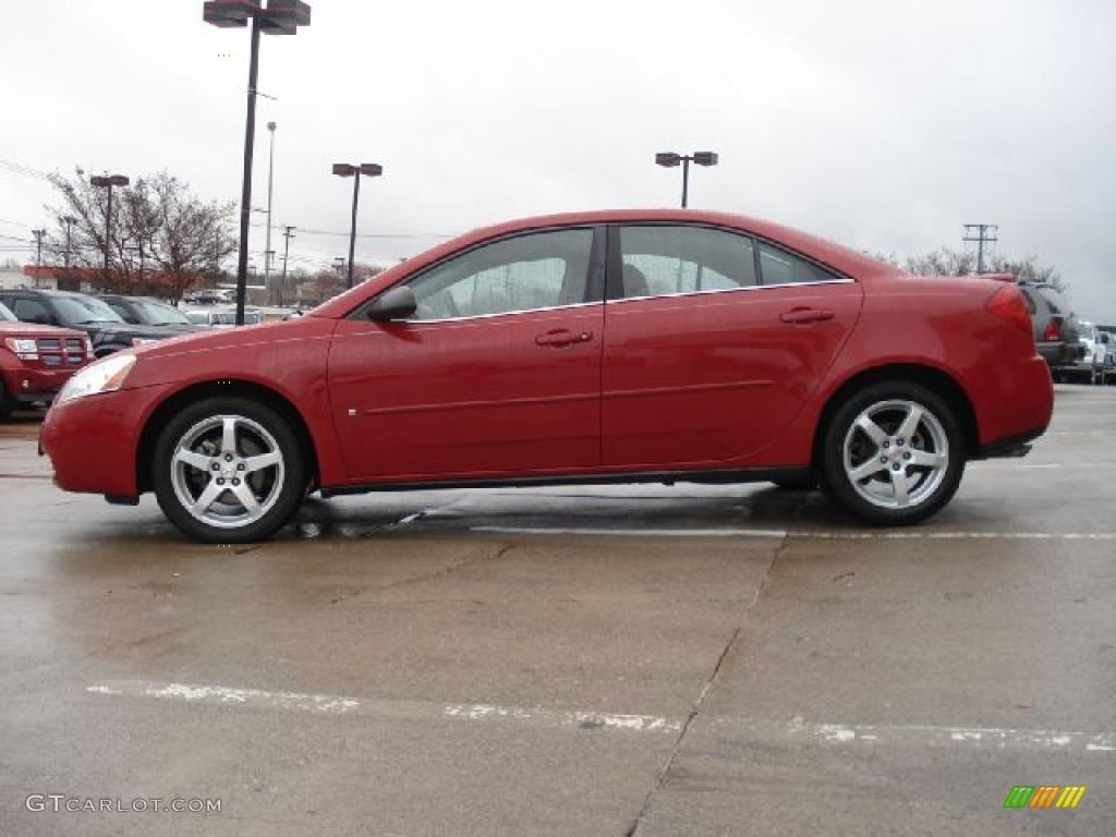 Crimson Red 2006 Pontiac G6 V6 Sedan Exterior Photo