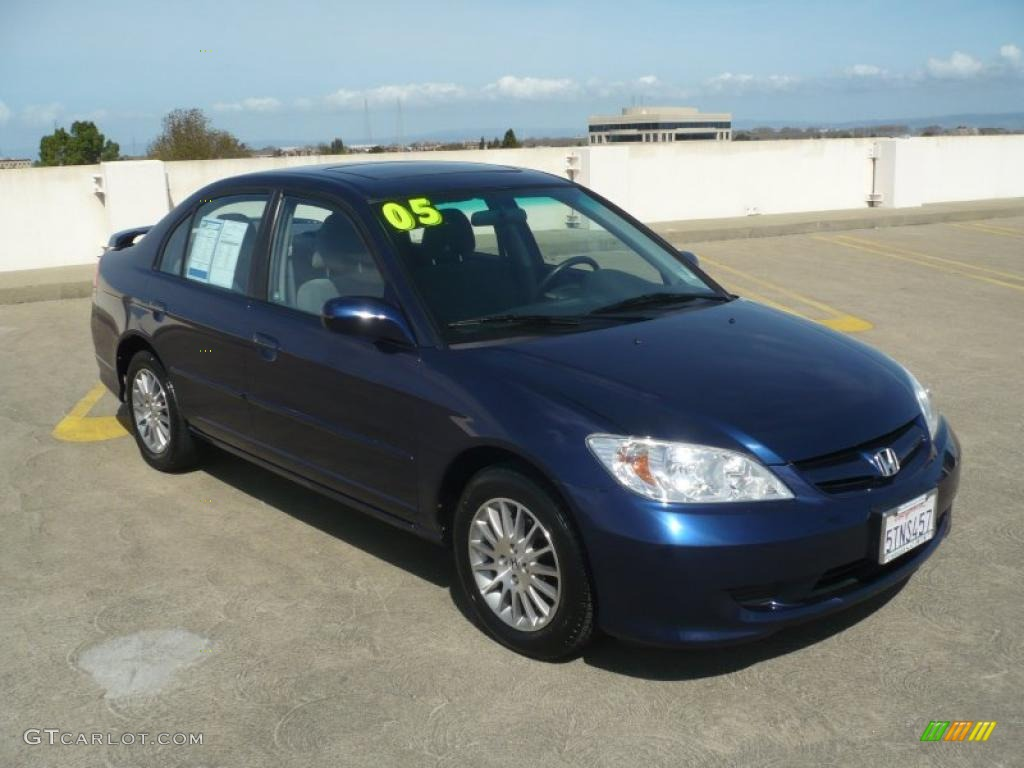 2005 eternal blue pearl honda civic ex sedan 46545502. Black Bedroom Furniture Sets. Home Design Ideas