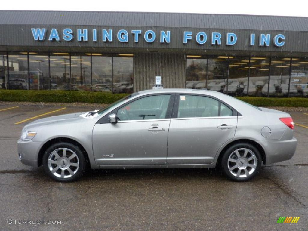 2008 MKZ AWD Sedan - Vapor Silver Metallic / Light Stone photo #1