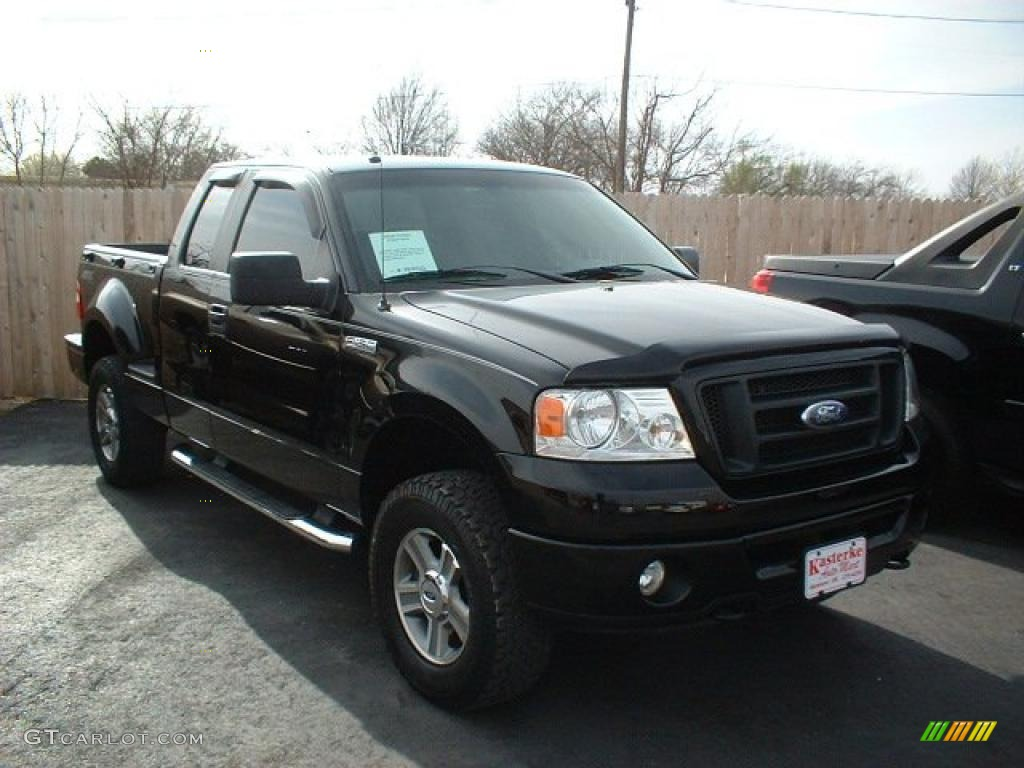 2008 black ford f150 stx supercab 4x4 46612204 car color galleries. Black Bedroom Furniture Sets. Home Design Ideas