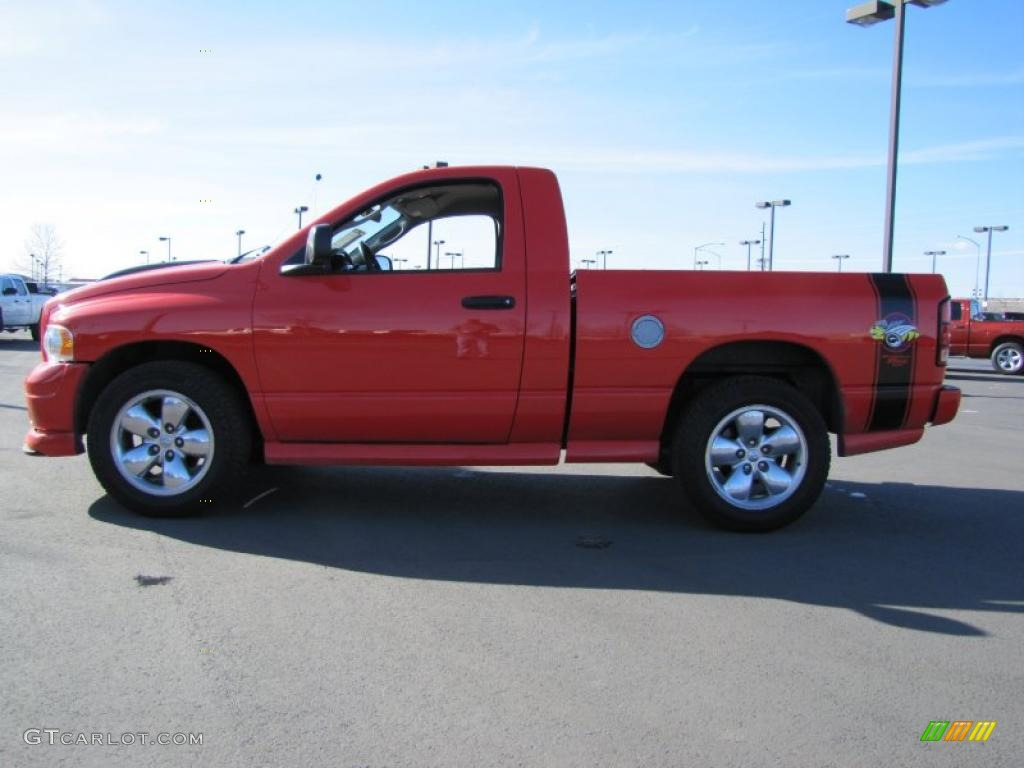 2005 Ram 1500 SLT Rumble Bee Regular Cab - Flame Red / Dark Slate Gray photo #1