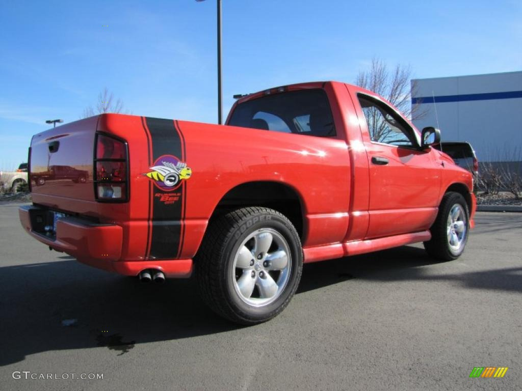 2005 Ram 1500 SLT Rumble Bee Regular Cab - Flame Red / Dark Slate Gray photo #6