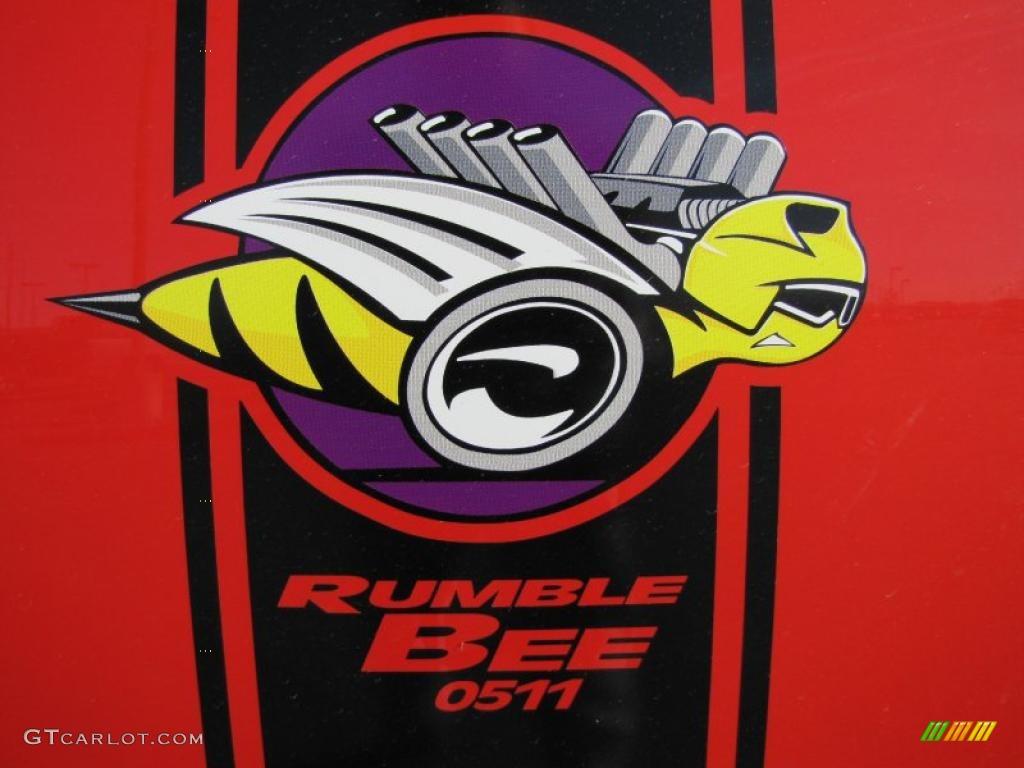 2005 Ram 1500 SLT Rumble Bee Regular Cab - Flame Red / Dark Slate Gray photo #7