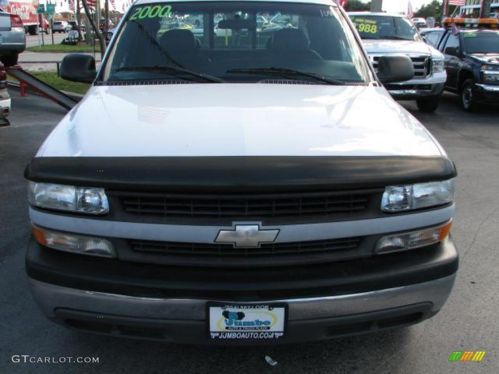 2000 Silverado 1500 Extended Cab - Summit White / Graphite photo #3
