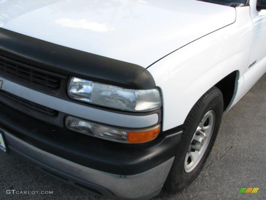 2000 Silverado 1500 Extended Cab - Summit White / Graphite photo #4