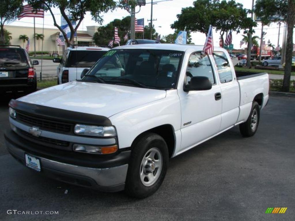 2000 Silverado 1500 Extended Cab - Summit White / Graphite photo #5