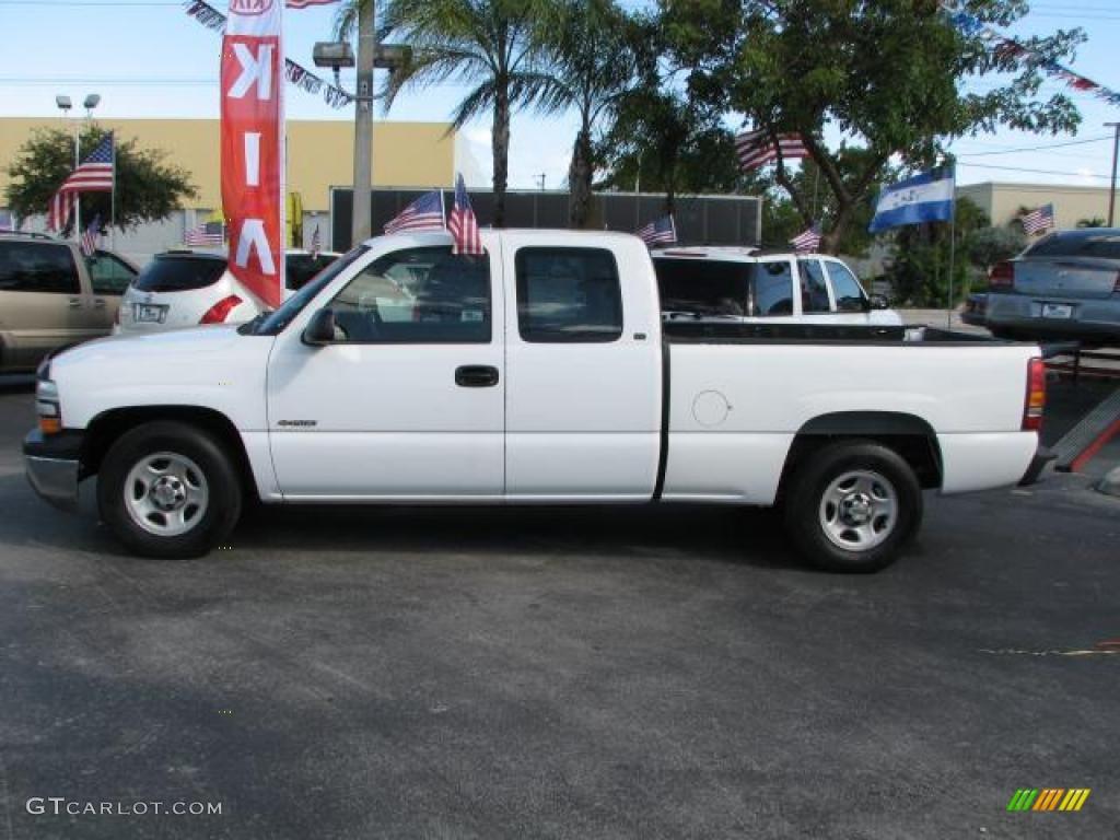 2000 Silverado 1500 Extended Cab - Summit White / Graphite photo #6