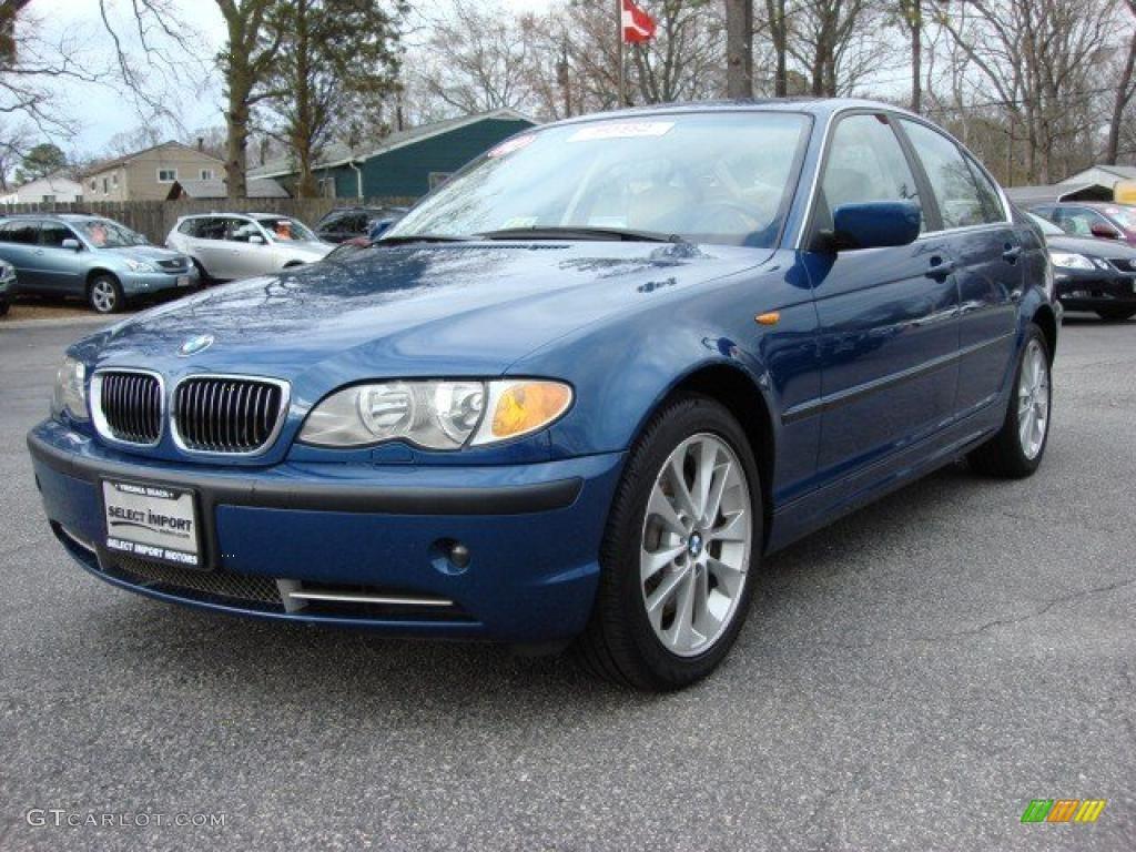2002 3 Series 330xi Sedan - Topaz Blue Metallic / Sand photo #1