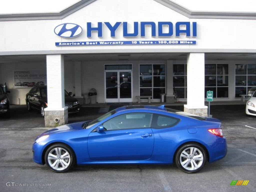 2011 Mirabeau Blue Hyundai Genesis Coupe 2 0t 46630990