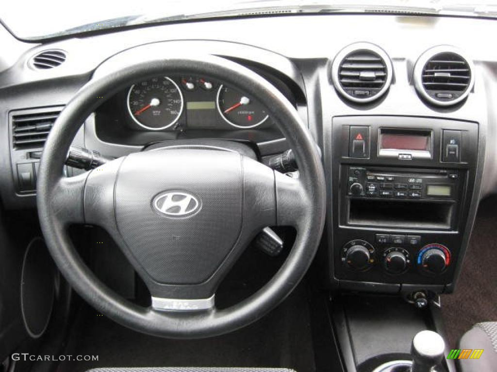 2006 Hyundai Tiburon Gs Black Dashboard Photo 46647953