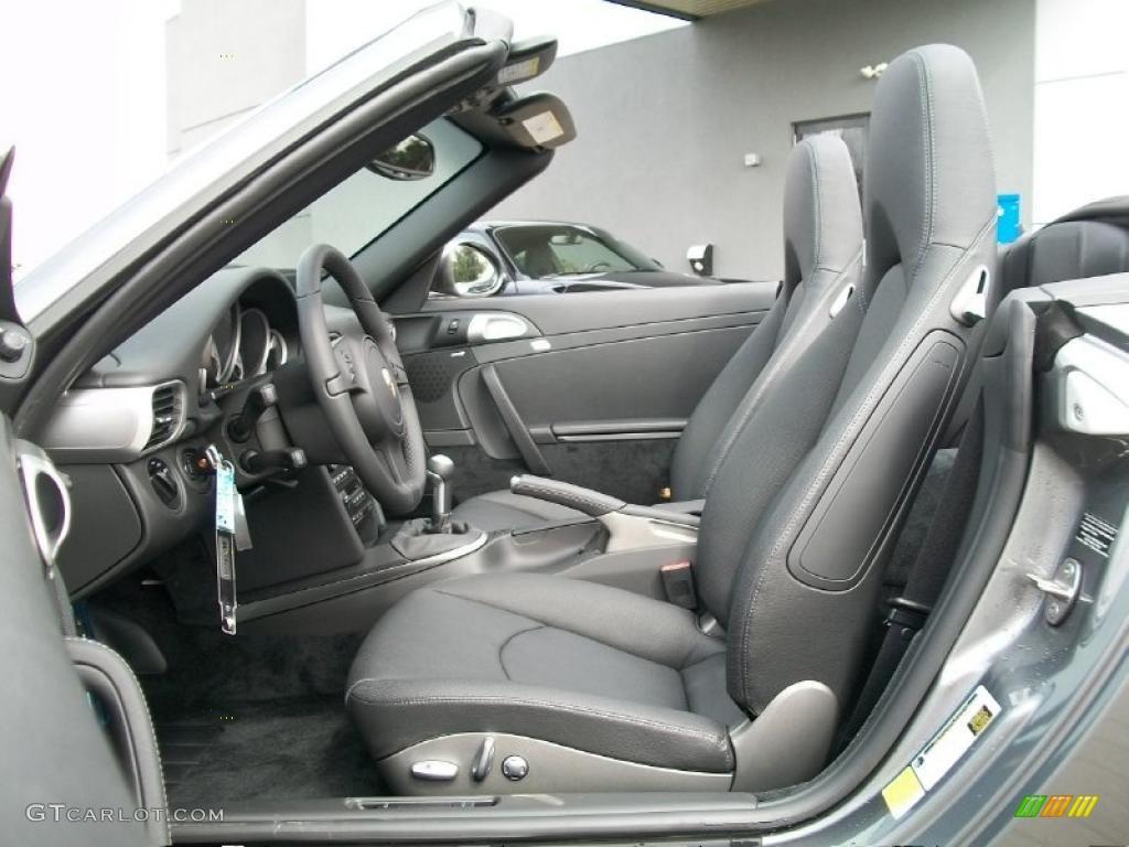 Black Interior 2011 Porsche 911 Carrera 4S Cabriolet Photo #46650290