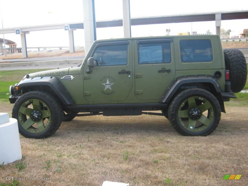 2007 jeep green metallic jeep wrangler unlimited rubicon. Black Bedroom Furniture Sets. Home Design Ideas