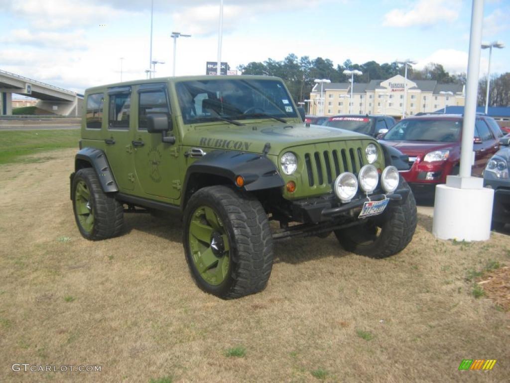 Jeep Green Metallic 2007 Jeep Wrangler Unlimited Rubicon 4x4 Exterior Photo  #46659383