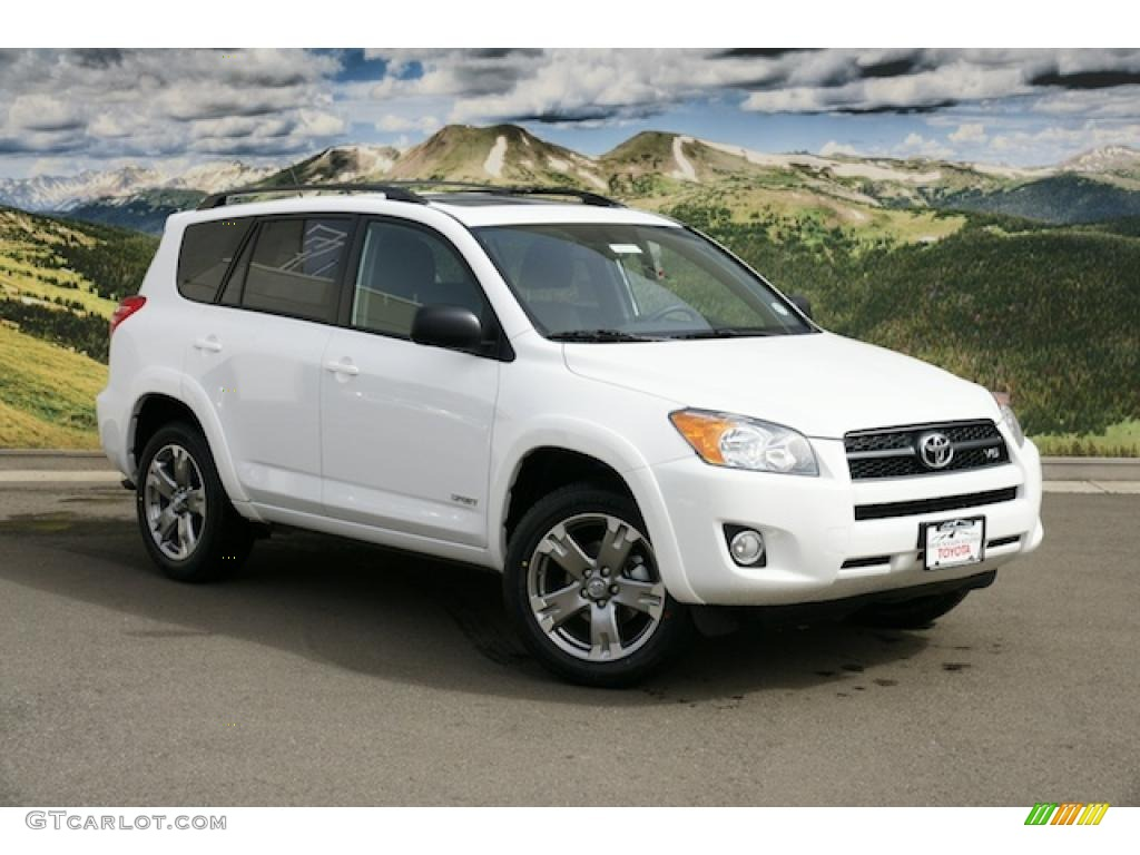 2011 super white toyota rav4 v6 sport 4wd 46653742 photo 3 car color galleries. Black Bedroom Furniture Sets. Home Design Ideas