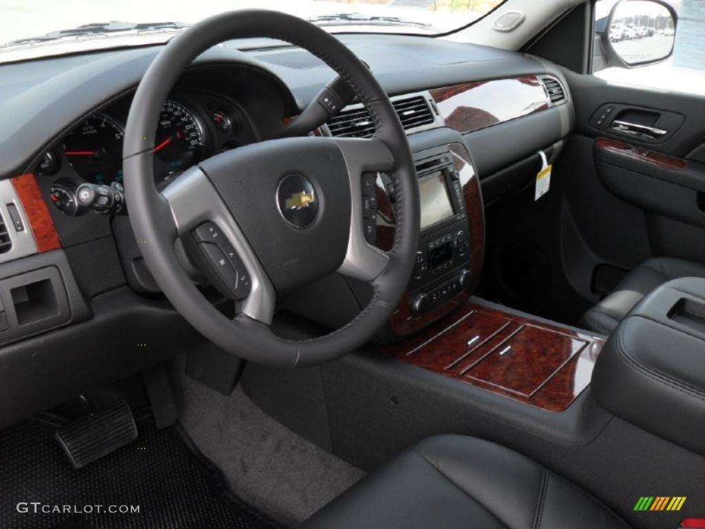 Ebony Interior 2011 Chevrolet Tahoe Ltz Photo 46661291