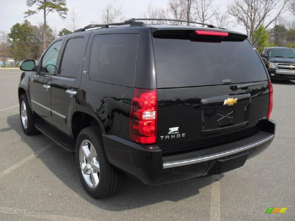 Black 2011 Chevrolet Tahoe Ltz 4x4 Exterior Photo 46663337