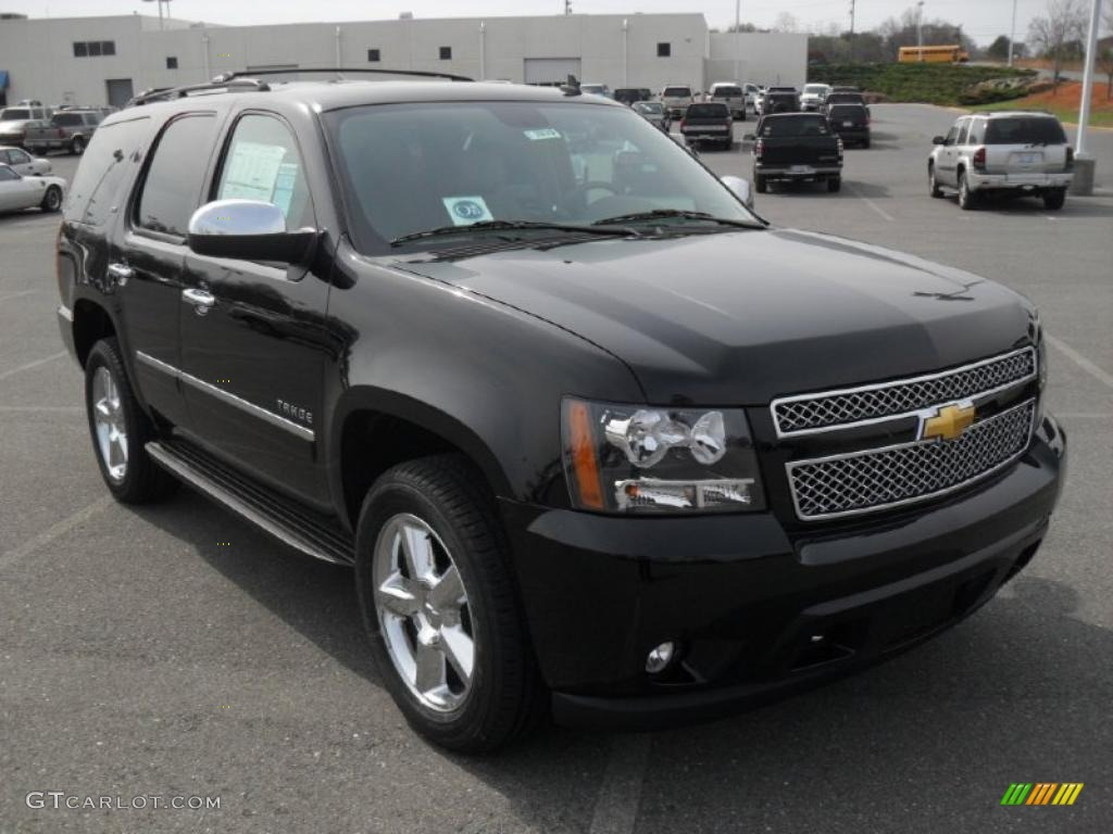 Black 2011 Chevrolet Tahoe Ltz 4x4 Exterior Photo 46663385