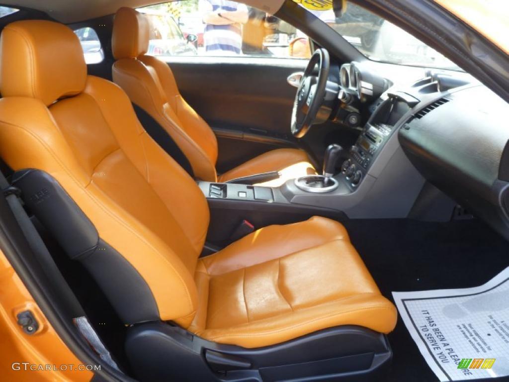 2003 nissan 350z interior. burnt orangecarbon black interior 2003 nissan 350z touring coupe photo 46673273 350z