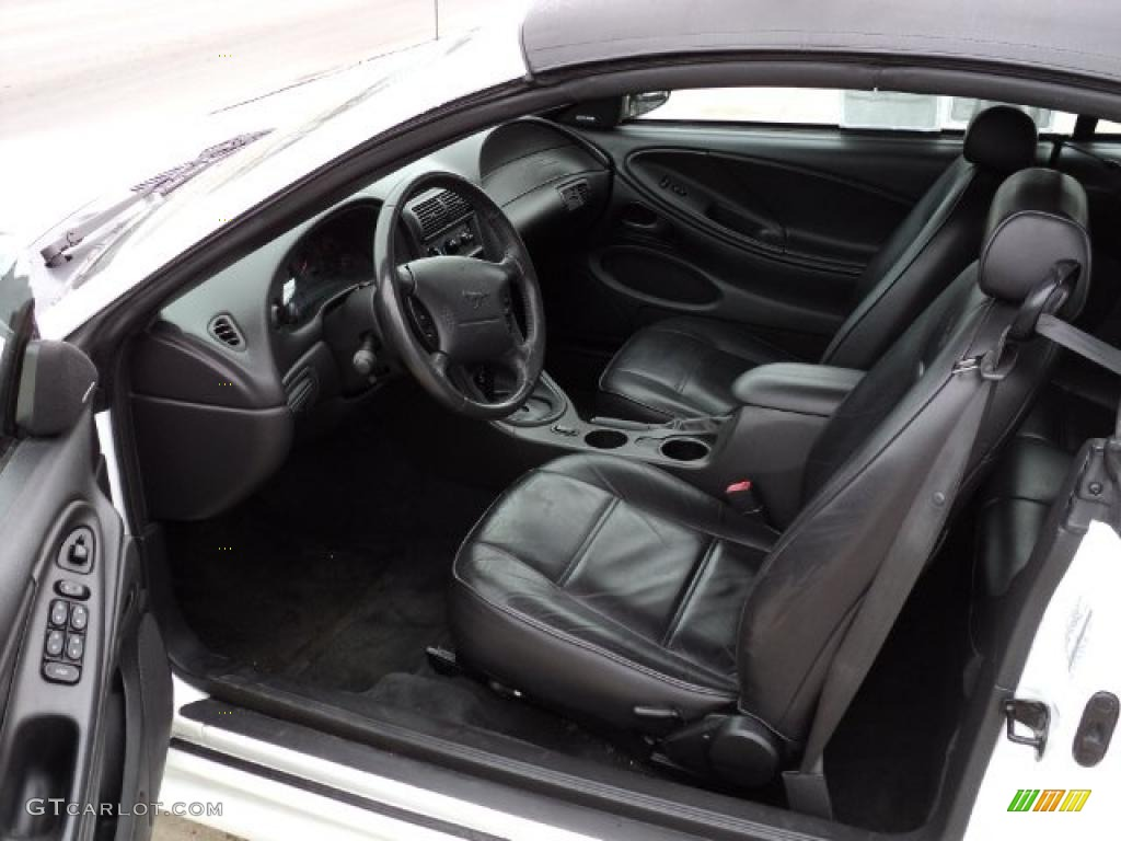 Dark Charcoal Interior 2002 Ford Mustang V6 Convertible