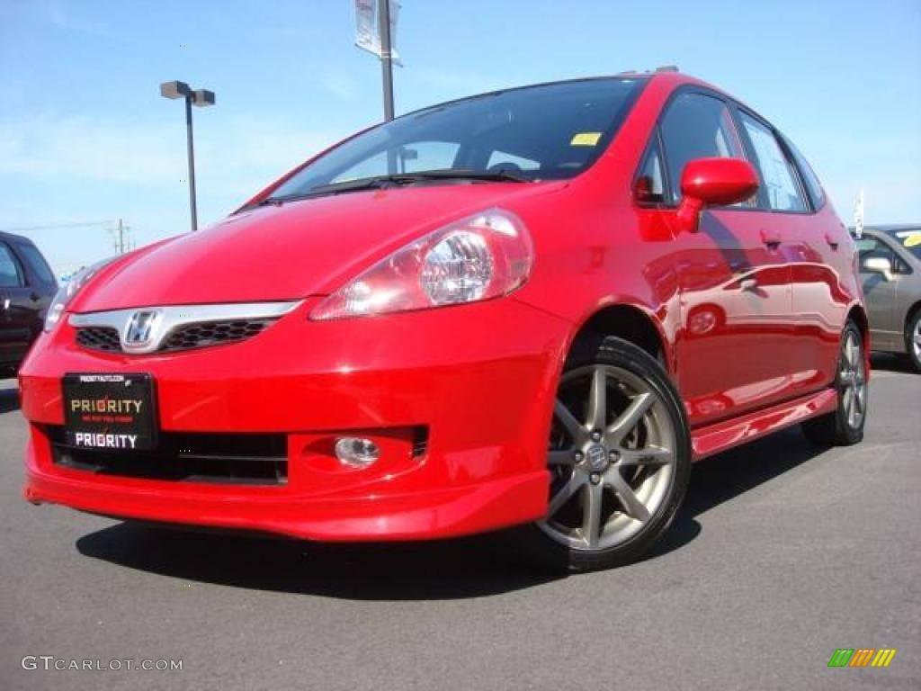 2007 Milano Red Honda Fit Sport #4659919 | GTCarLot.com ...