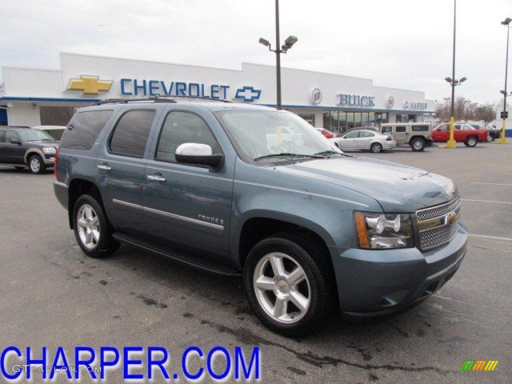 2009 blue granite metallic chevrolet tahoe ltz 4x4 46698118 car color galleries. Black Bedroom Furniture Sets. Home Design Ideas