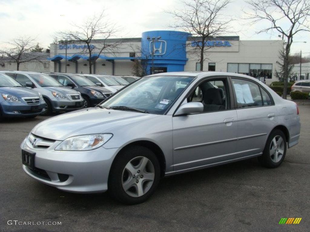 2004 Satin Silver Metallic Honda Civic Ex Sedan 46698252 Car Color Galleries