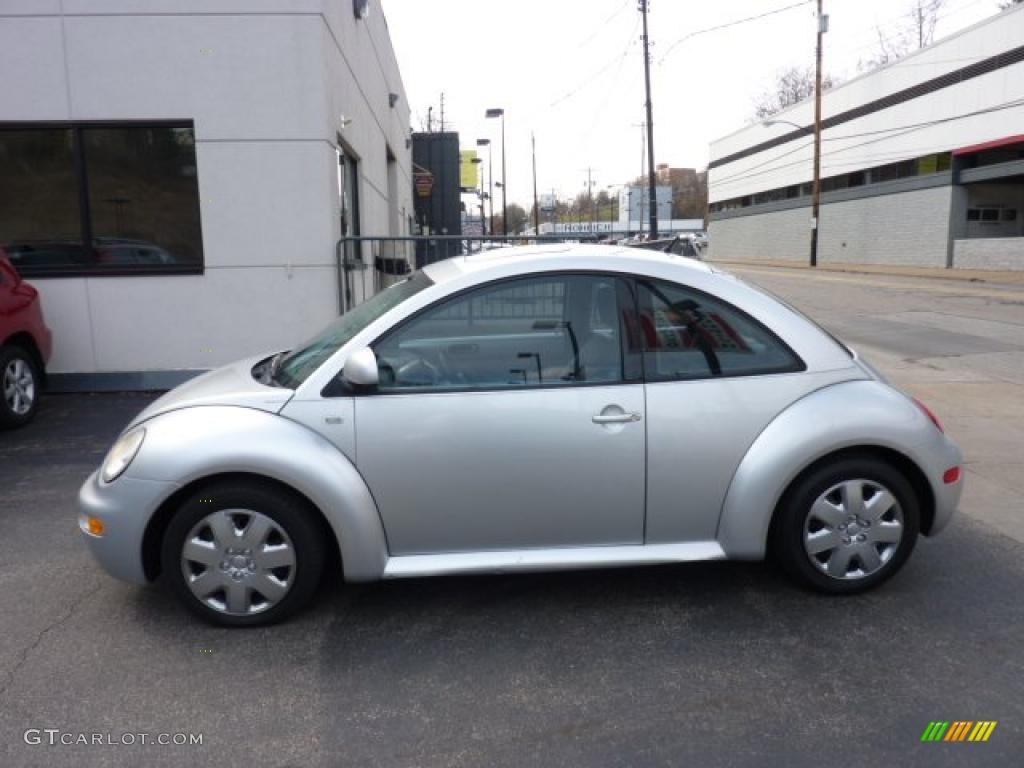 silver metallic 2000 volkswagen new beetle gls 1 8t coupe. Black Bedroom Furniture Sets. Home Design Ideas