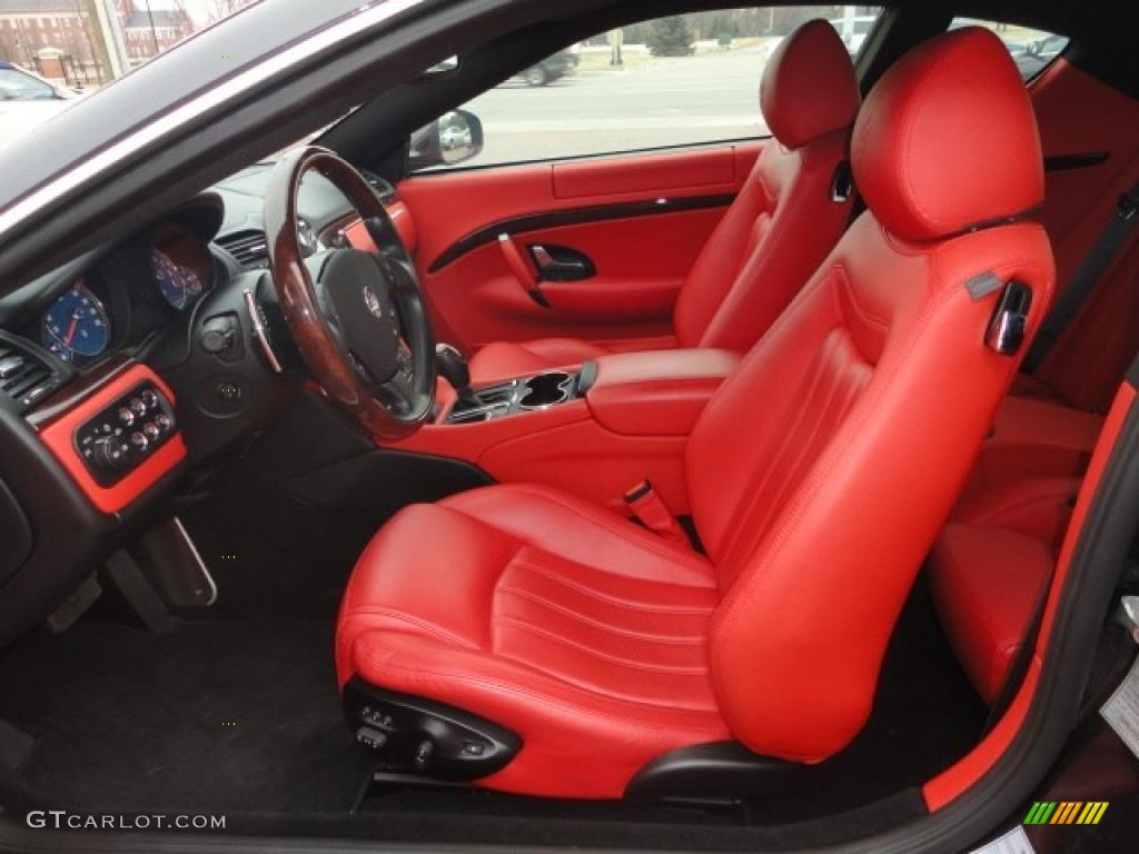 Rosso Corallo Red Interior 2008 Maserati Granturismo Standard Granturismo Model Photo