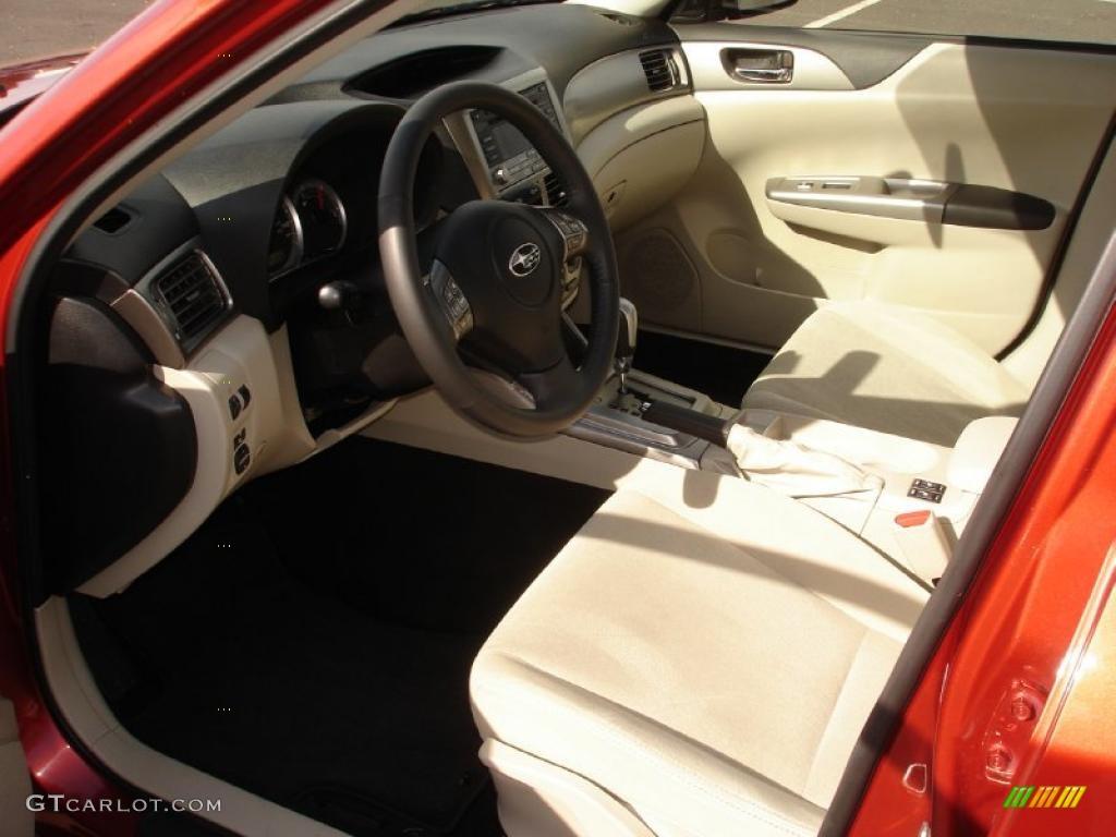 Ivory Interior 2010 Subaru Impreza Premium Sedan Photo 46753581