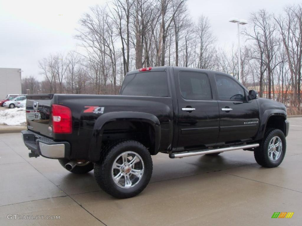 black 2007 chevrolet silverado 1500 lt z71 crew cab 4x4 exterior photo. Cars Review. Best American Auto & Cars Review
