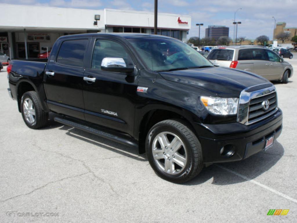 Captivating Black 2008 Toyota Tundra Limited CrewMax 4x4 Exterior Photo #46765185