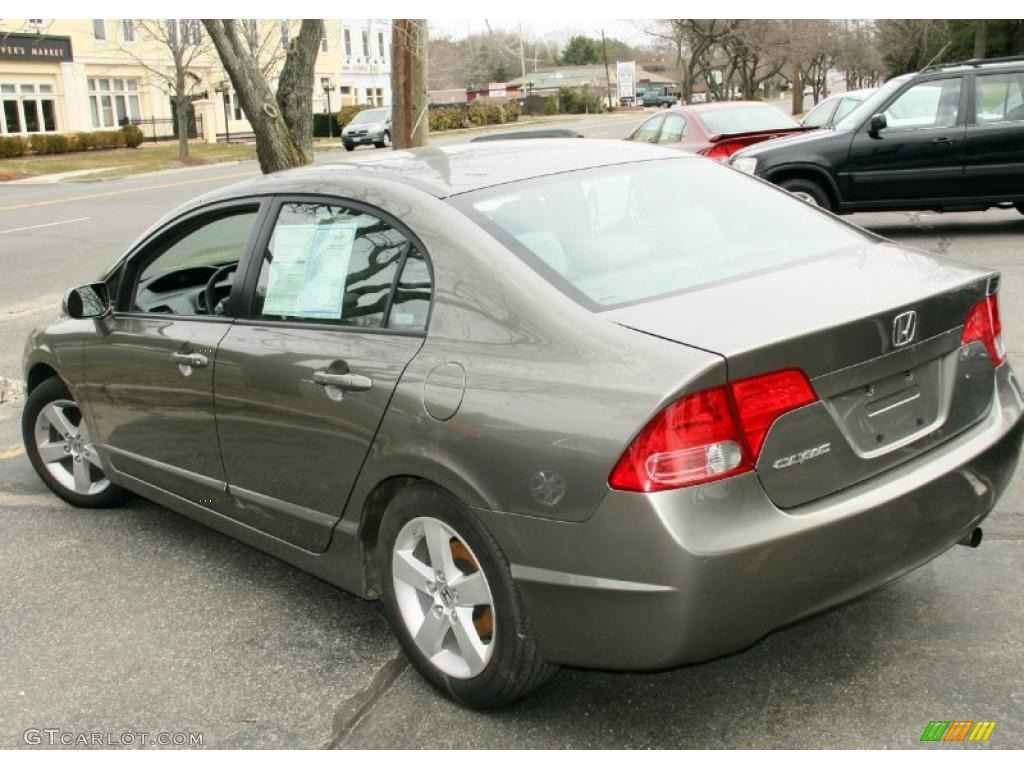 galaxy gray metallic 2008 honda civic ex sedan exterior
