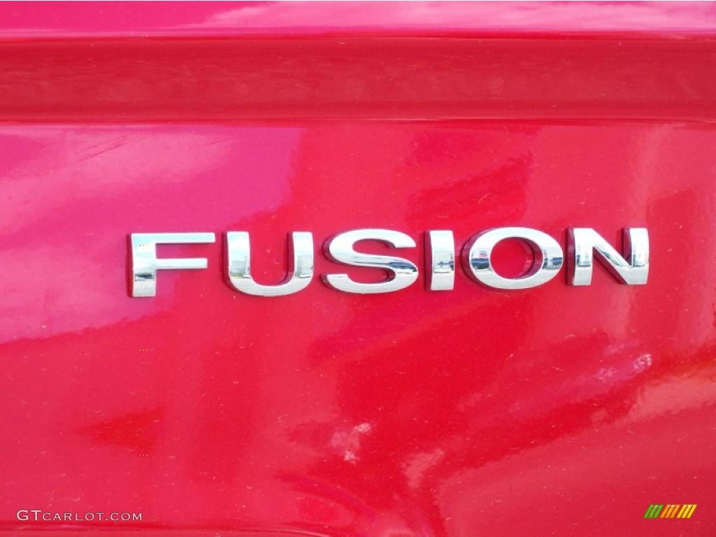 2011 Fusion SEL V6 - Red Candy Metallic / Camel photo #4