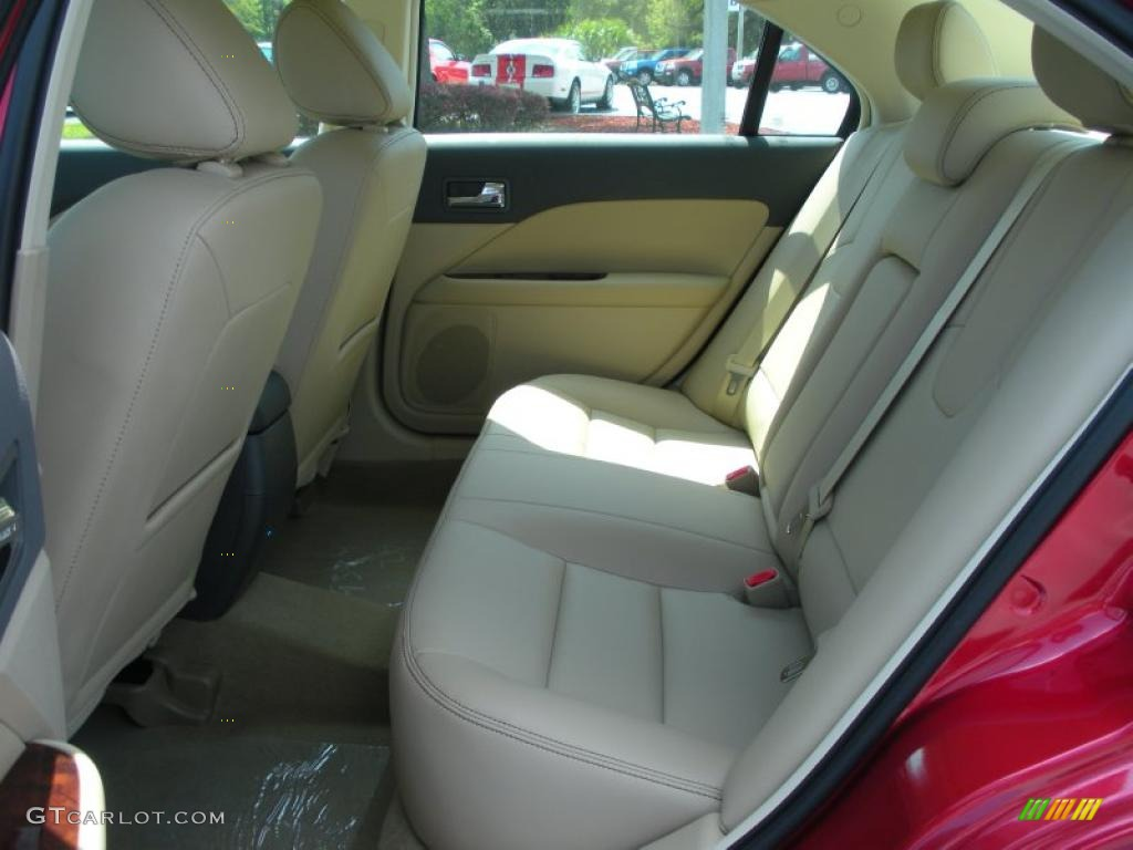 2011 Fusion SEL V6 - Red Candy Metallic / Camel photo #6