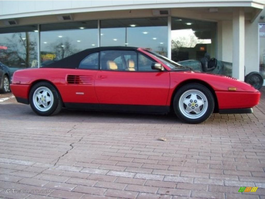 red 1989 ferrari mondial t cabriolet exterior photo. Black Bedroom Furniture Sets. Home Design Ideas